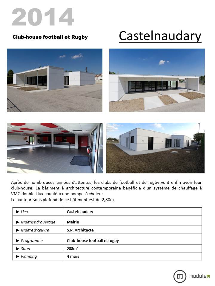 12 CASTELNAUDARY CLUB HOUSE FOOT RUGBY MODULAIRE MODULEM ARCHITECTURE